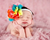 SALE TODAY 8.99 Baby headband, newborn headband, adult headband, child headband and photography prop -COLORBURST headband