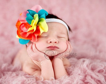 Baby headband, newborn headband, adult headband, child headband and photography prop The single sprinkled-COLORBURST headband