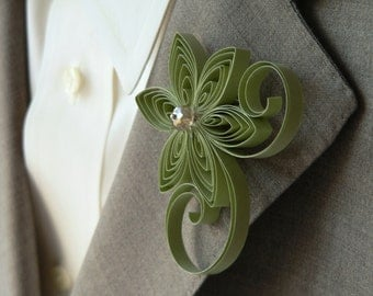 Sage Green Boutonniere, Sage Buttonhole, Moss Wedding, Forest Wedding, Woodland Fern Wedding, Meadow Wedding Boutonnieres