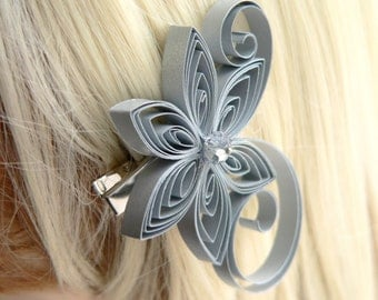 Silver Wedding Hair Clip, Silver Wedding Hair Accessory