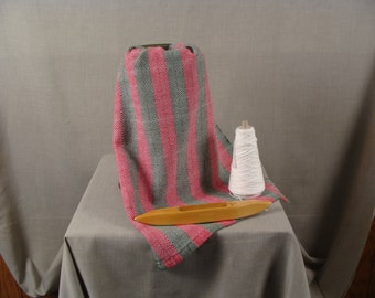 Handwoven Dishtowel, Red, Green and White