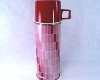 Pink Quart Thermos King-Seeley Vintage 60s