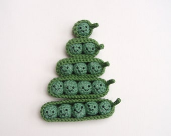 peas in a pod crochet amigurumi, one, two, three, four and five peas in a pod counting toy