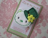 Girl hair clips - st patricks day hair clips - girl barrettes