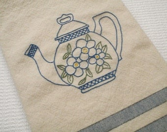 Popular items for teapot with flowers on Etsy - Debbie Mumm Teapot Kitchen Towels