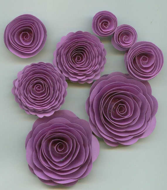 Grape Purple Girl Handmade Spiral Paper Flowers From