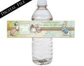 Peter Rabbit Baby Shower Water Bottle Wrappers