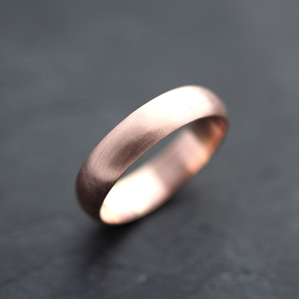 Rose Gold Diamond Ring Band Men 39 s Rose Gold Wedding Band