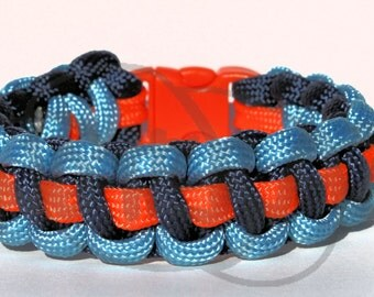 Thunder Oklahoma City OKC Inspired 550 Paracord Survival Strap Bracelet with Plastic Contoured Side Release Buckle