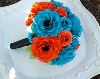 Paper Flower Wedding Bouquet - Customize Your Colors - Made To Order
