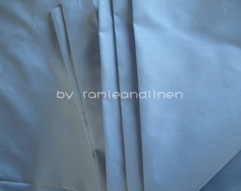 "silk fabric, light blue pure silk taffeta fabric, half yard by 44"" wide"