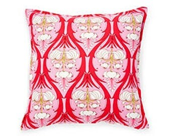 Pillow Cover Cushion 20x20  pink Amy Butler Passion Lily  pattern, other sizes available, pick your color