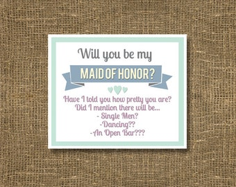 Will You Be My Maid of Honor / Have I Told You How Pretty You Are / Greeting Card / How to Ask Maid of Honor / Ask to be in Wedding Party