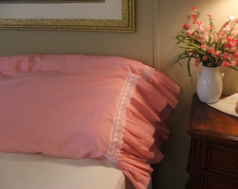 LOVE-ly Lacy Pink Pillowcases
