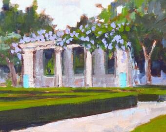 Balboa Park Alcazar Garden Gazebo-  San Diego Painting