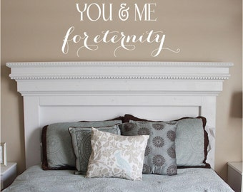 You & Me Vinyl Lettering decal bedroom love art  wall words graphics Home decor itswritteninvinyl