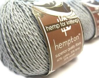 Hemp Cotton Yarn, Light Silver Grey DK Weight 130yd Hemp/Cotton/Modal Blend