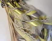 150 Wedding Wands Lace Ribbon Bells Streamers Birthday Party Gold Silver