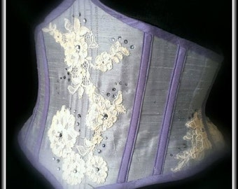 "28"" Closed Waist Limited Edition Lace and Swarovski Crystal Silk Cincher"