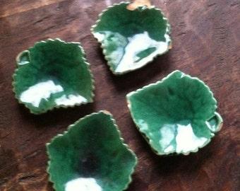 Set of 4 Leaf Single Ashtrays