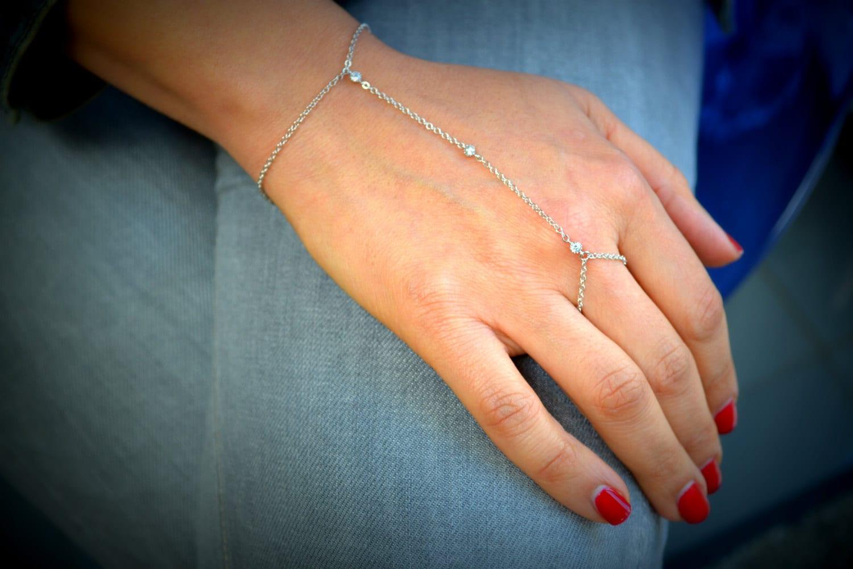 Etsy Chain Bracelet Silver Chain Slave Bracelet