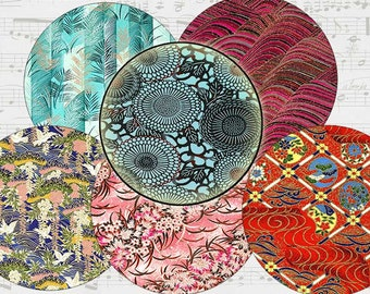ASIAN style Bottle caps Digital circles Images patterns 317  pendants, jewelry, crafts, scrapbooking, magnets, bows. Instant download