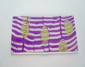 Purple Business Card Case, Metal Credit Card Case, Purple Stripes & Green Swirls Case