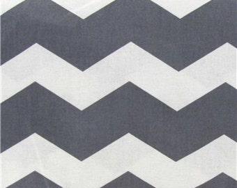 Thick Chevron Fabric - Grey - BTY