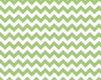 Riley Blake Green Chevron Small - Fat Quarter