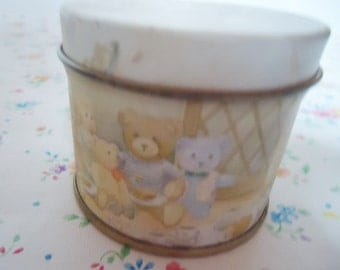 The Teddy Bear Sweet Tin.Signed 1992.Little Goodie