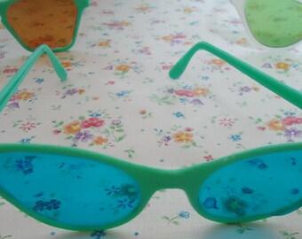 Three Toy Futurist SunGlasses for Kids. Deep 80s