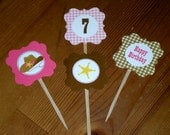 Cowgirl Cupcake toppers - Set of 24