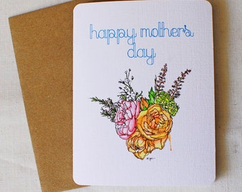 Flowers for Mom- Mother's Day Card