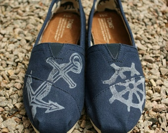 Nautical Custom TOMS shoes