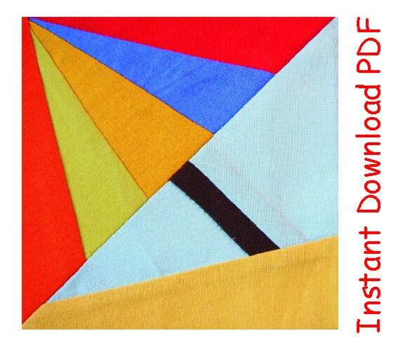 Umbrella Paper Pieced Instant Download Pdf Pattern Quilt Block