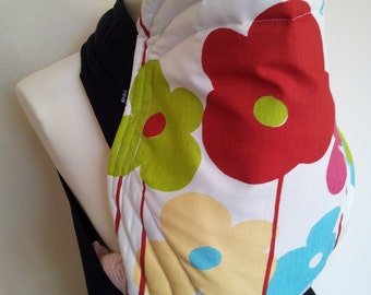 MEI TAI Baby Carrier / Sling / Reversible/ Floral Extravaganzas / leg cut model / 100% Cotton / Made in UK