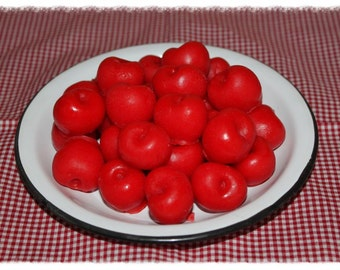WILD CHERRY Scented Primitive Cherry Bowl Fillers Wax Embeds Tarts Melts
