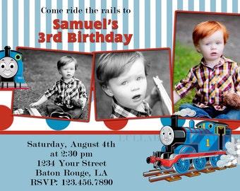 Custom Thomas Train Invitation / Thomas Invitation / Thomas Birthday Invitation / Thomas The Tank Engine Ticket 5x7 4x6 Digital File