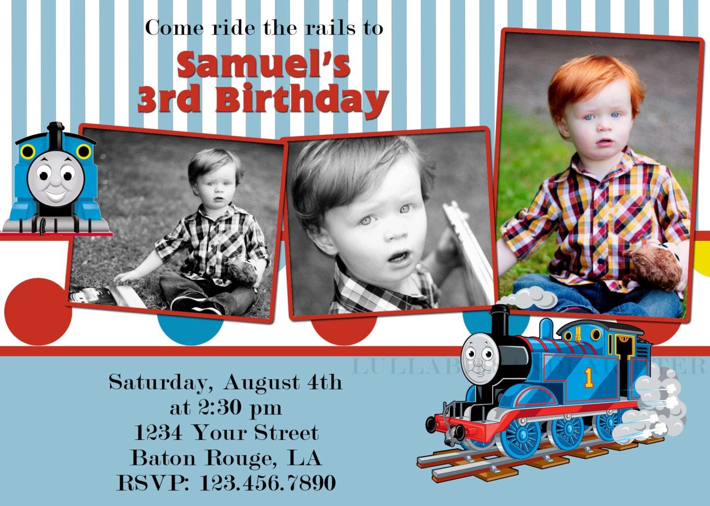 items similar to custom thomas train invitation thomas invitation thomas birthday invitation