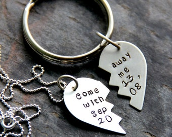 Valentines Gift For Couples, Gift For Couple, Gift For Her, Men Personalized Gift Groom, Best Friend Necklace Couple, Boyfriend