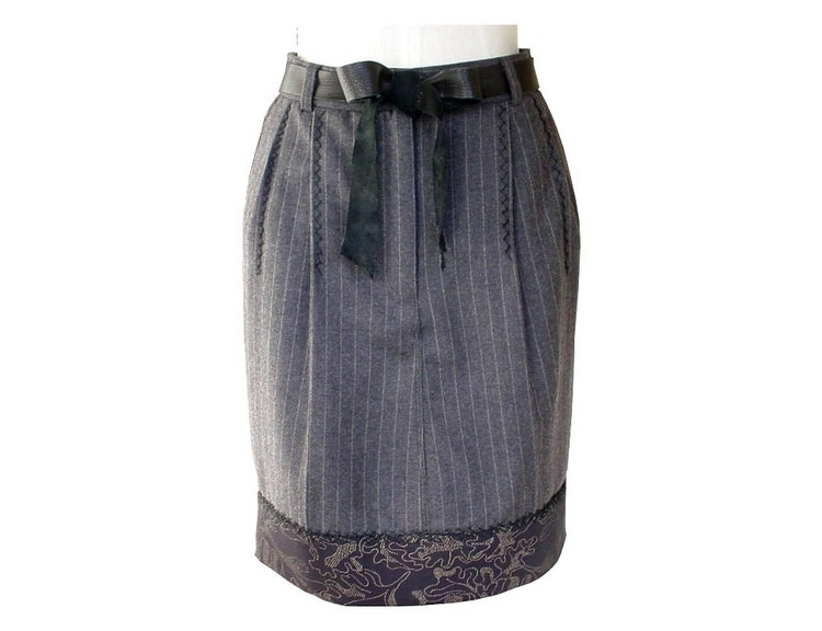 Seamless soft black leather bow wedding dress sash by for Leather wedding dresses black
