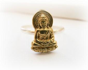 Buddha Ring - Yoga ring - Little Buddha Ring - Yoga jewelry - Gold Buddha ring - Buddha Ring Gold - Buddha Jewelry - Silver Buddha Ring