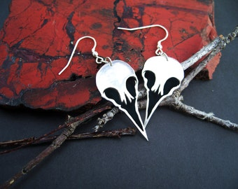 Single bird skulls Full set - Sterling Silver