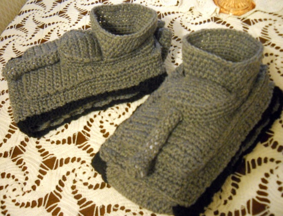 Knitting Pattern For Army Tank Slippers : Custom listing for Jenni Russell toritrader by CrochetedinLove