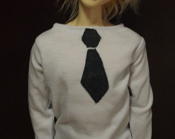 MARKDOWN Black and White 60cm Fake Tie-shirt