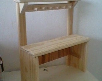 potters bench for american girl size doll