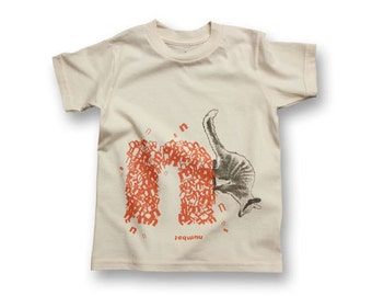 "Personalized ""N"" for Numbat - Organic Kids T-shirt"