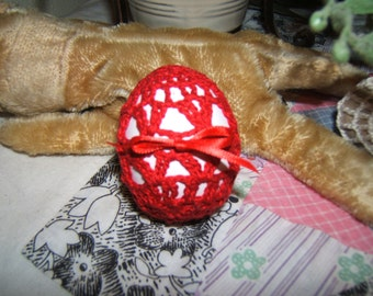 Crocheted Egg - Red