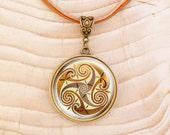 Celtic Triskle - Leather Necklace