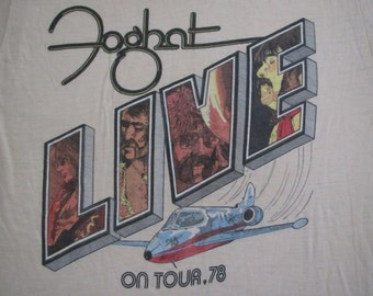 Original FOGHAT vintage 1978 tour TSHIRT